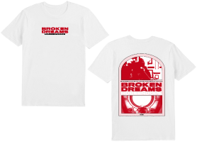 BROKEN DREAMS WHITE T-SHIRT + DIGITAL ALBUM